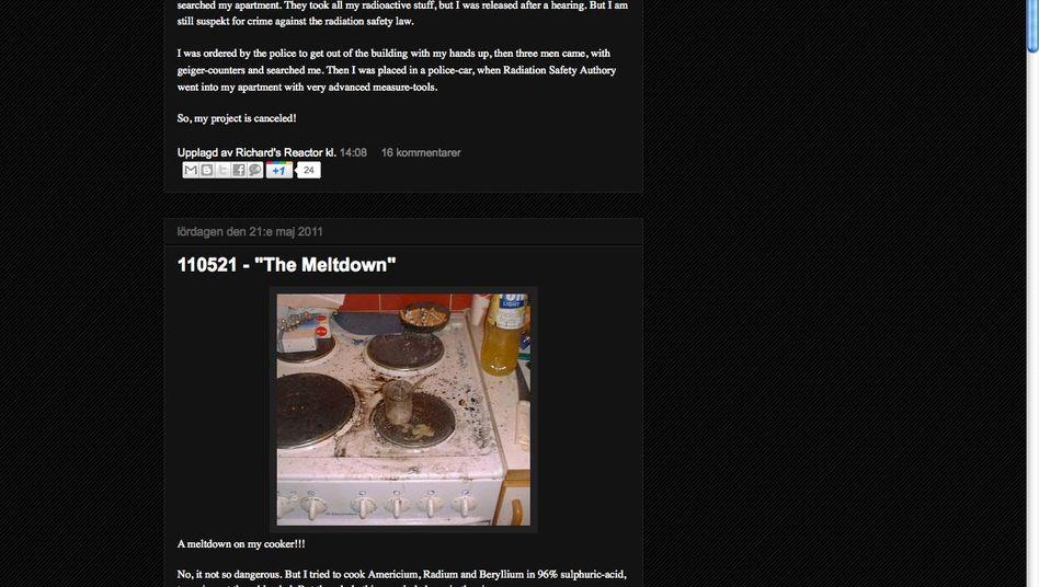 Screenshot von Handls Blog: Kleiner Chemieunfall in der Küche