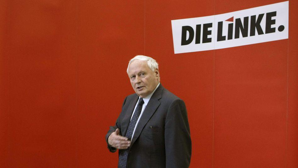 """Linke-Chef Oskar Lafontaine: """"Wir können ja nicht in der Opposition eine Koalition bilden"""""""