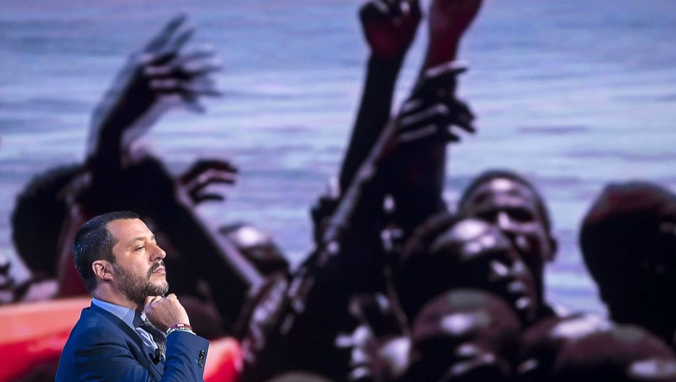 Italiens Innenminister Salvini als Gast in einer Fernsehsendung