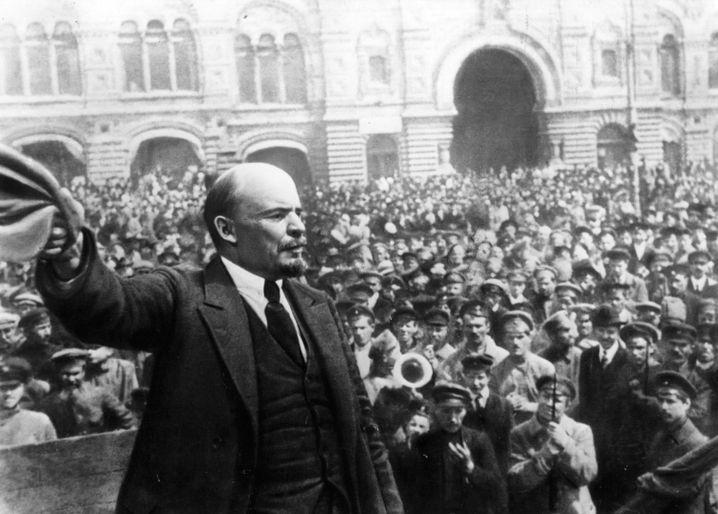 Lenin bei Rede in Moskau: Vorbild für die ukrainischen Separatisten