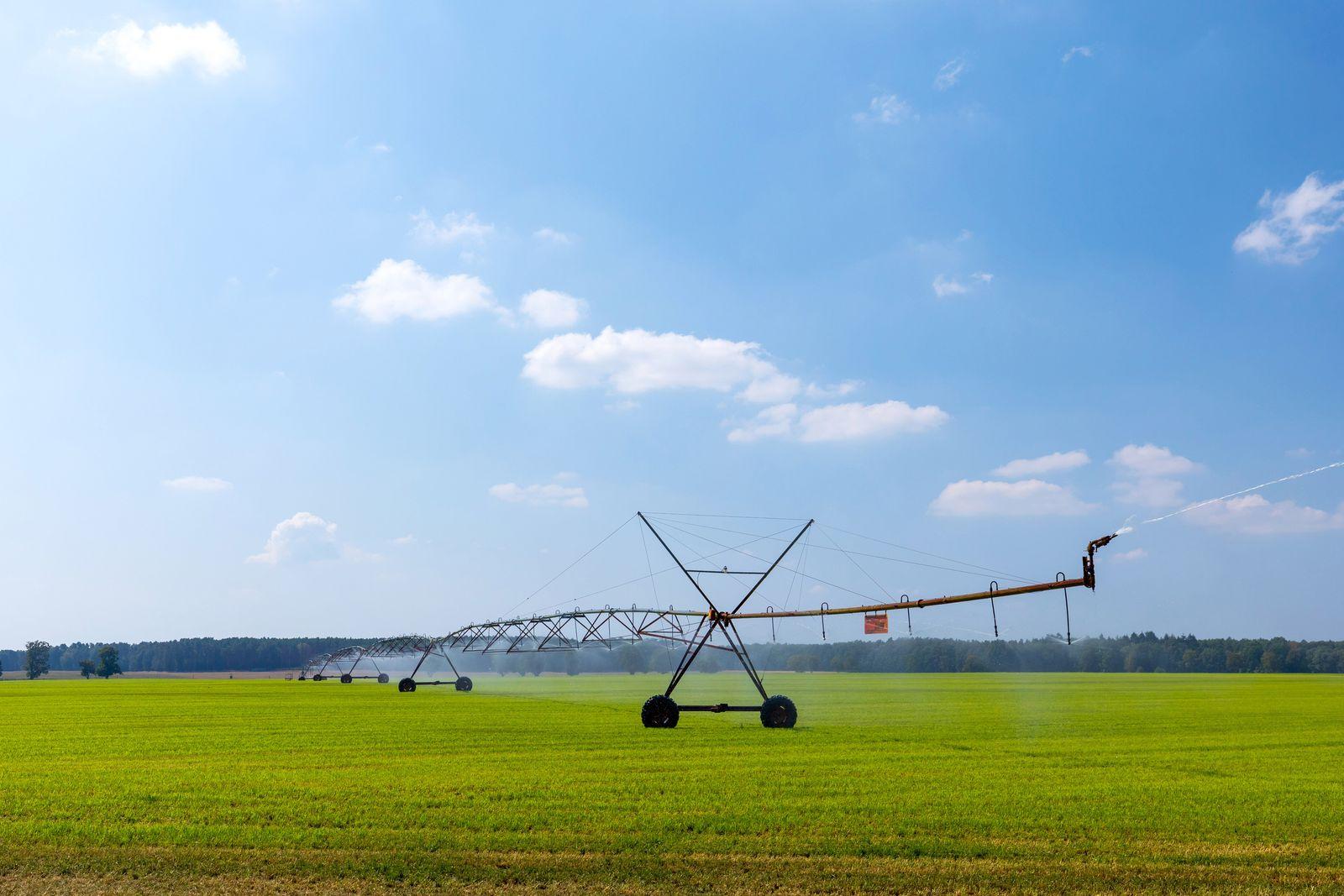 Bewaesserung von Feldern