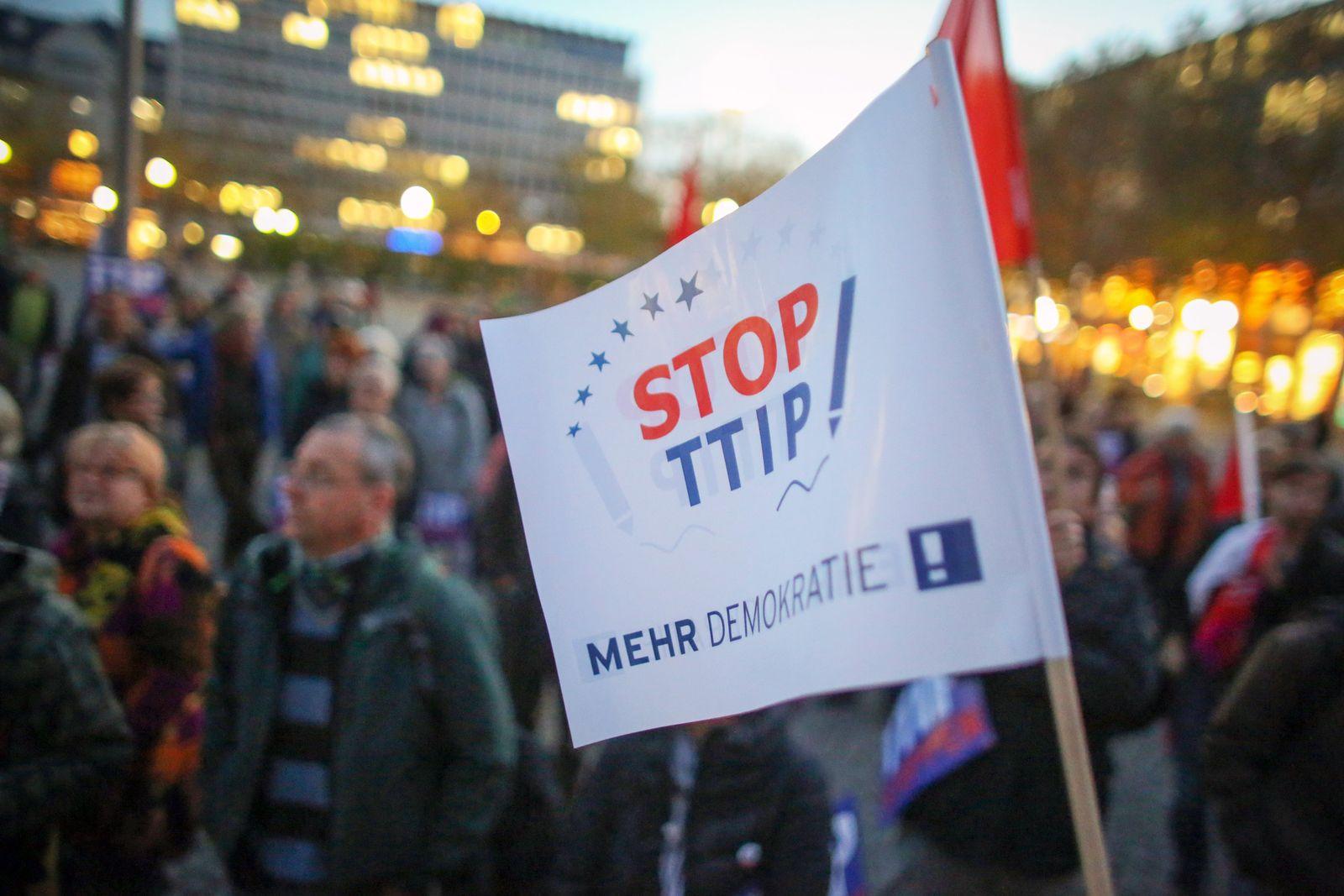 Protest gegen Freihandelsabkommen TTIP