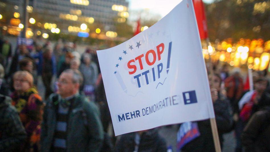 """Demo in Wiesbaden: """"Stop TTIP! Mehr Demokratie!"""""""