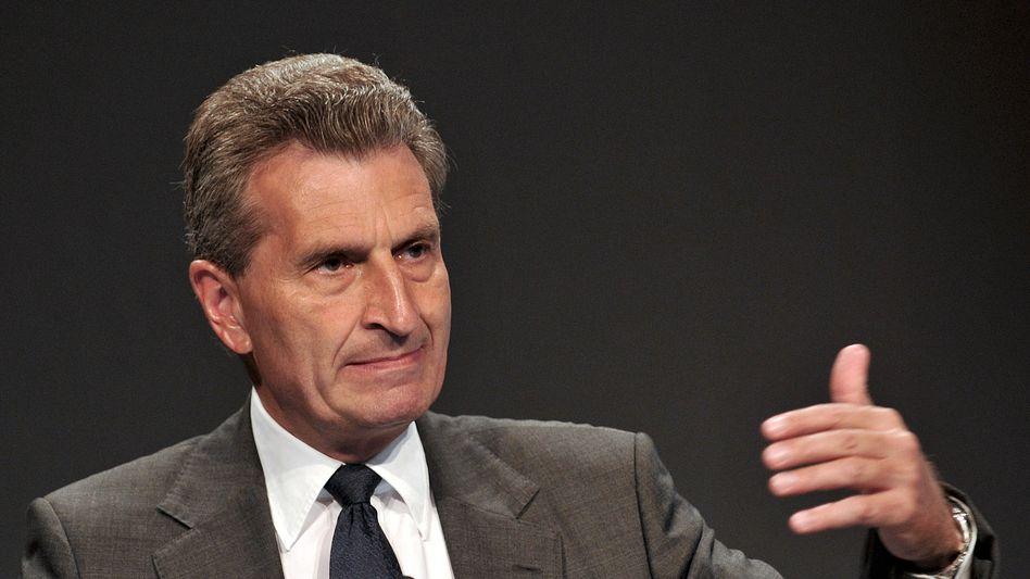 "EU-Kommissar Oettinger (Archivbild): ""Freunde, kommt zu uns"""