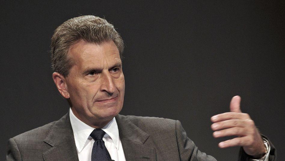 EU-Kommissar Oettinger: Strompreis steigt schneller als die Inflation