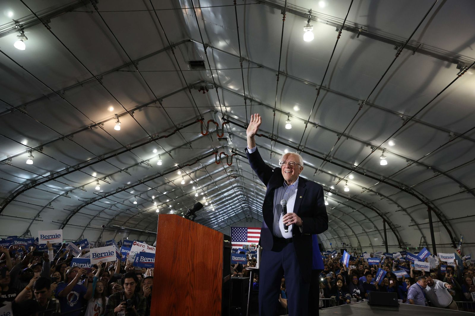 Presidential Candidate Bernie Sanders Campaigns Across U.S. Ahead Of Super Tuesday