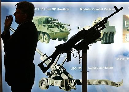 The Defence Systems and Equipment International exhibition in London is the world's largest arms fair.