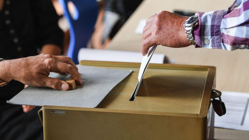 An der Wahlurne (Symbolbild)