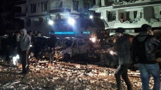 Distrikt Viransehir nach der Explosion einer Autobombe