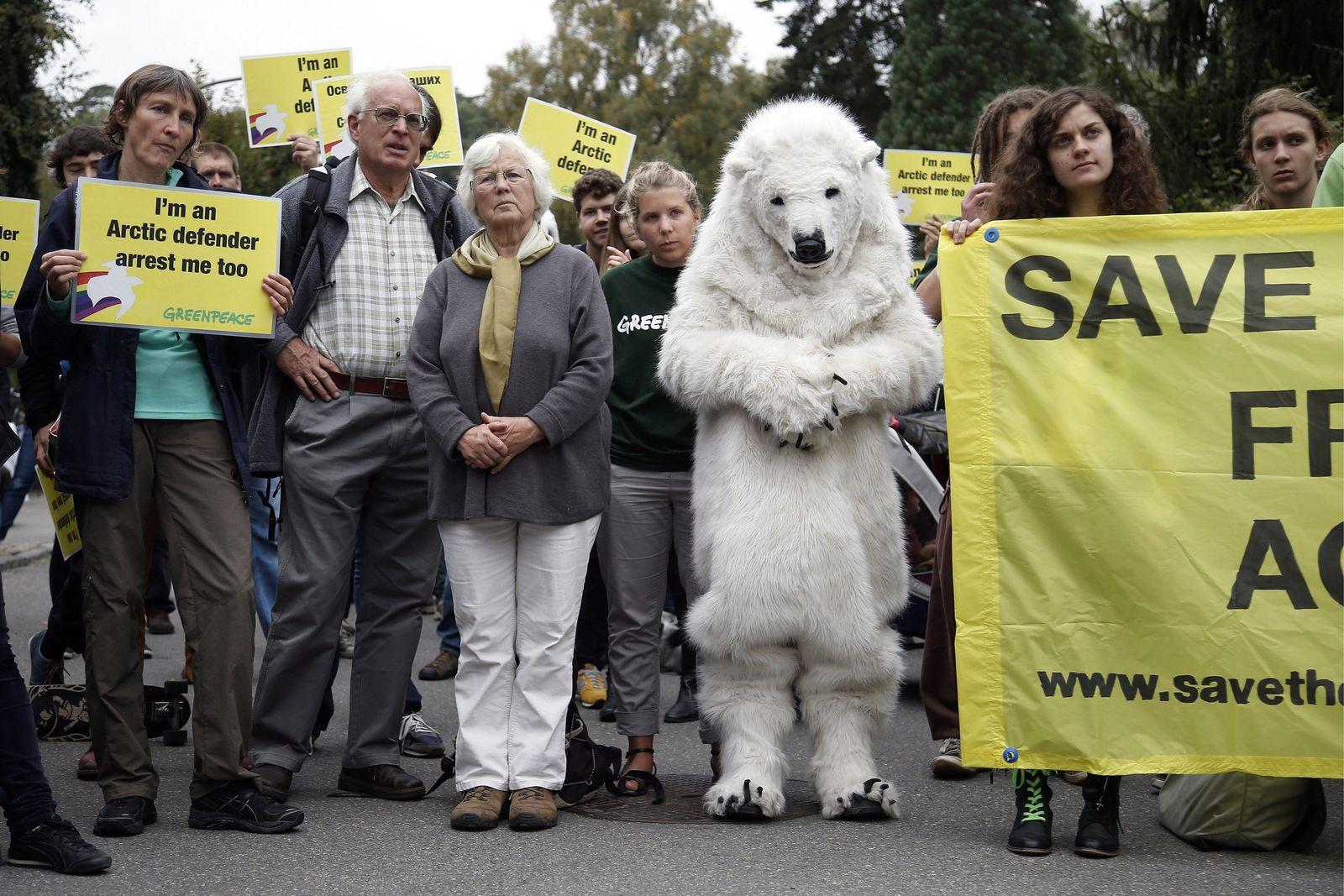 Greenpeace Proteste / Bern