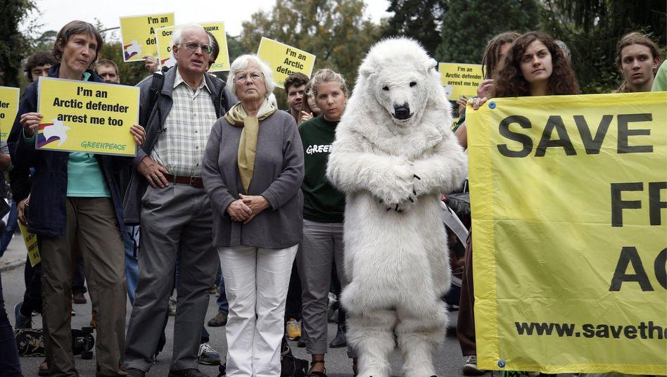 Protest gegen Verhaftung der Umweltschützer: Bis zu 15 Jahre Haft