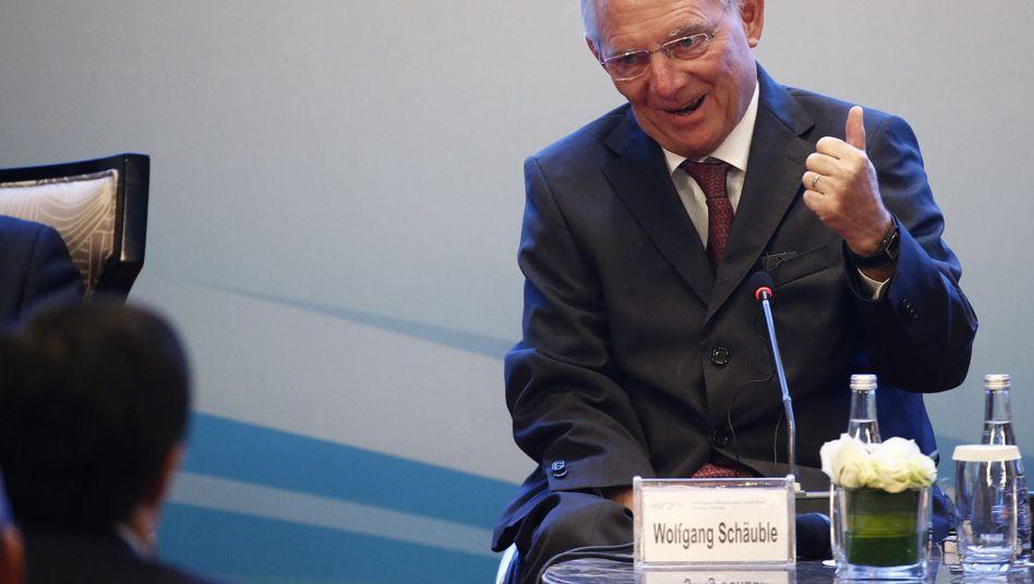 Wolfgang Schäuble beim G20-Treffen in Shanghai