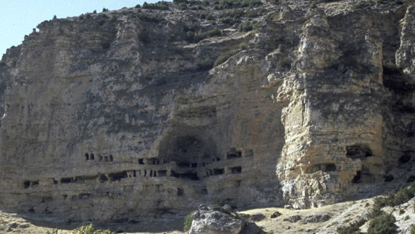 Felsenkloster nahe Usak: Forscher haben hier mehr als 60 Räume der Sekte gefunden.