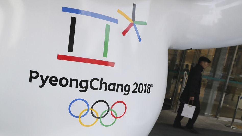Das offizielle Logo der Olympischen Winterspiele 2018 (Archivbild)