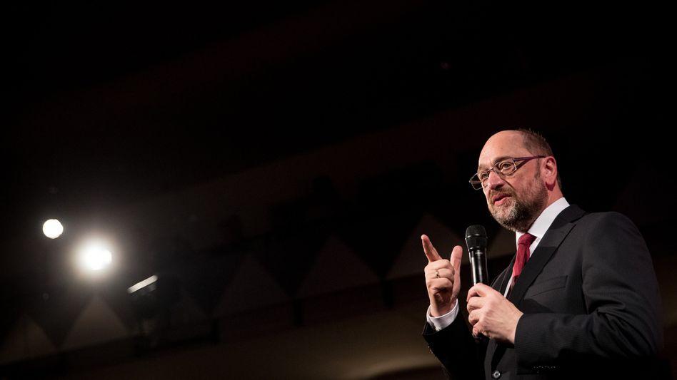 Martin Schulz am 8.2.2017 in Ahrensburg (Schleswig-Holstein)