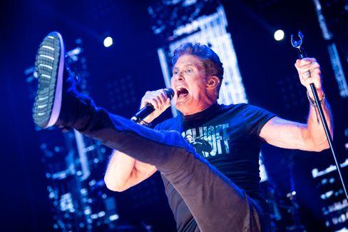 Sänger und Showman Hasselhoff bei einem Konzert seiner »Freedom! The Journey Continues«-Tour 2019