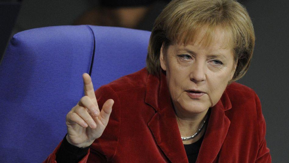 Bundeskanzlerin Angela Merkel (CDU): Sicherer im Sattel als Kohl zu seinen besten Zeiten