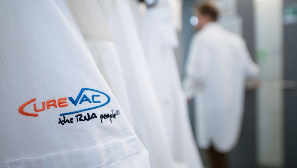 Labormantel vom Tübinger Unternehmen CureVac