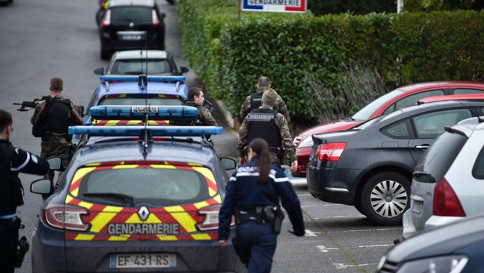 Einsatz der Gendarmerie von Dieuze