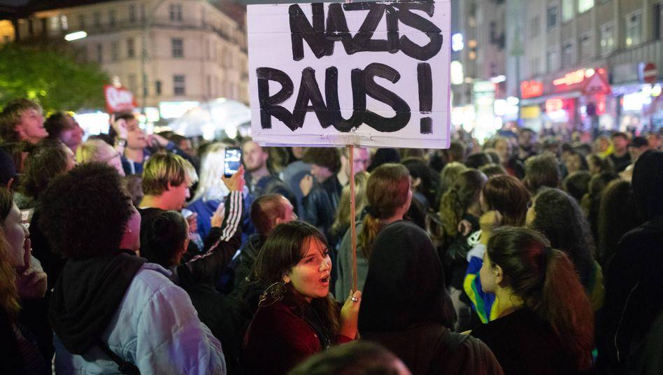 Demonstration gegen rechte Gewalt in Berlin