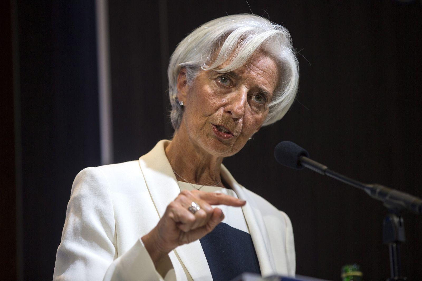 Christine Lagarde zu Griechenland in Washington, DC