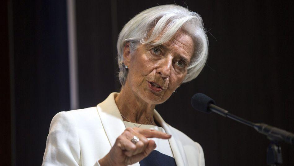 IWF-Chefin Christine Lagarde: Sorge um die UN-Entwicklungsziele