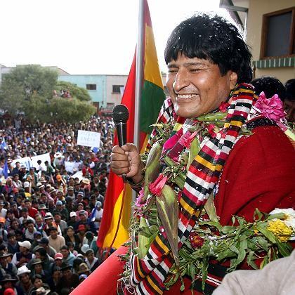 Unbeirrter Anhänger der Verstaatlichung: Boliviens Präsident Morales