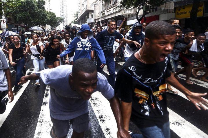 Demonstranten in Copacabana: Schmerz und Wut