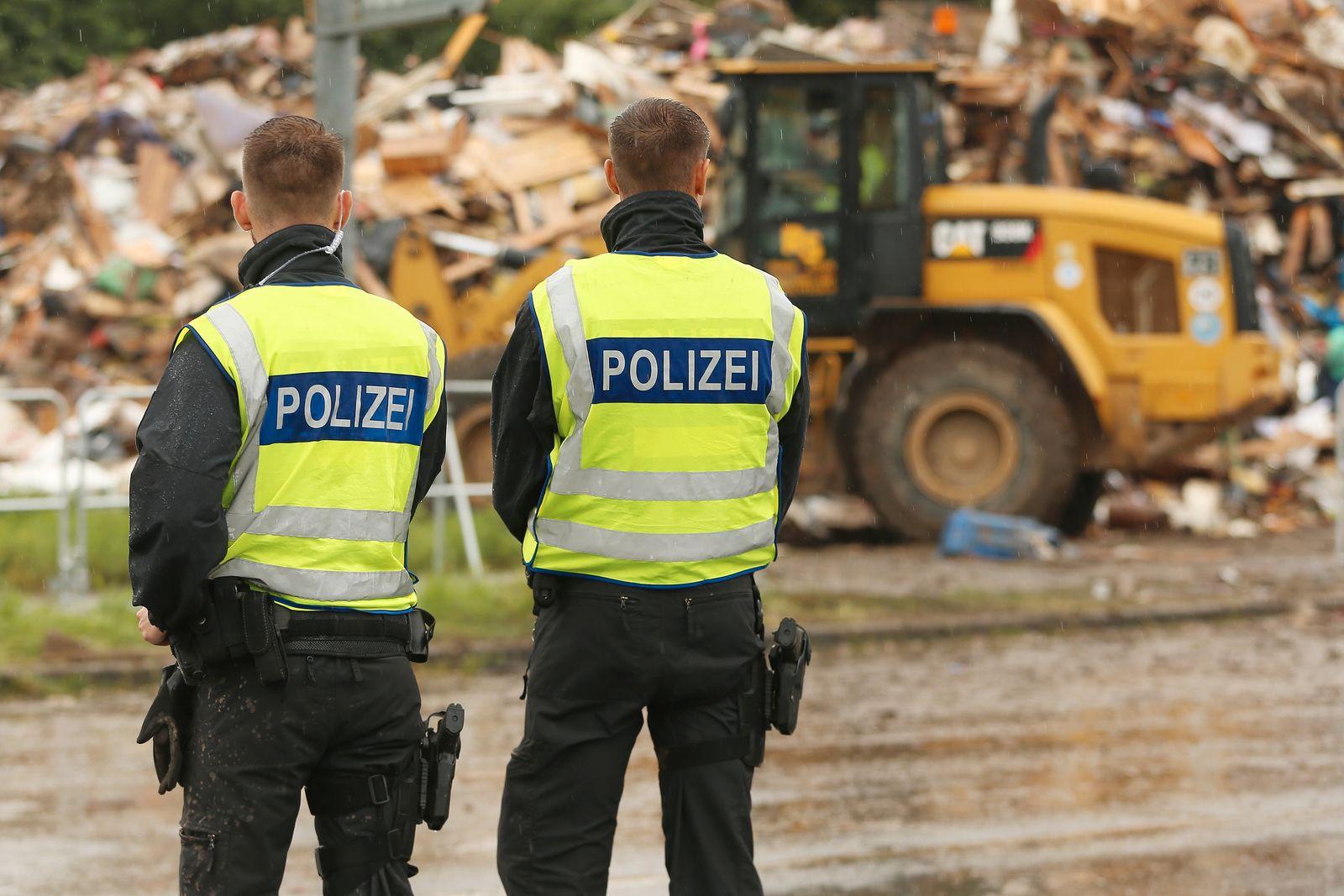 Nach der Hochwasserkatastrophe - Erftstadt Liblar