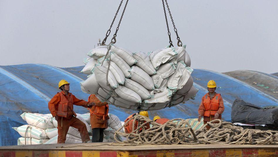 Hafenarbeiter in China