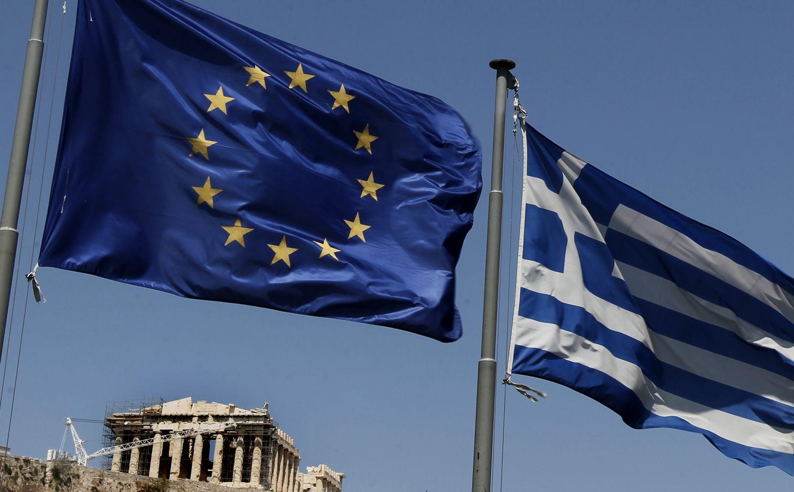NICHT VERWENDEN Griechenland EU Flaggen