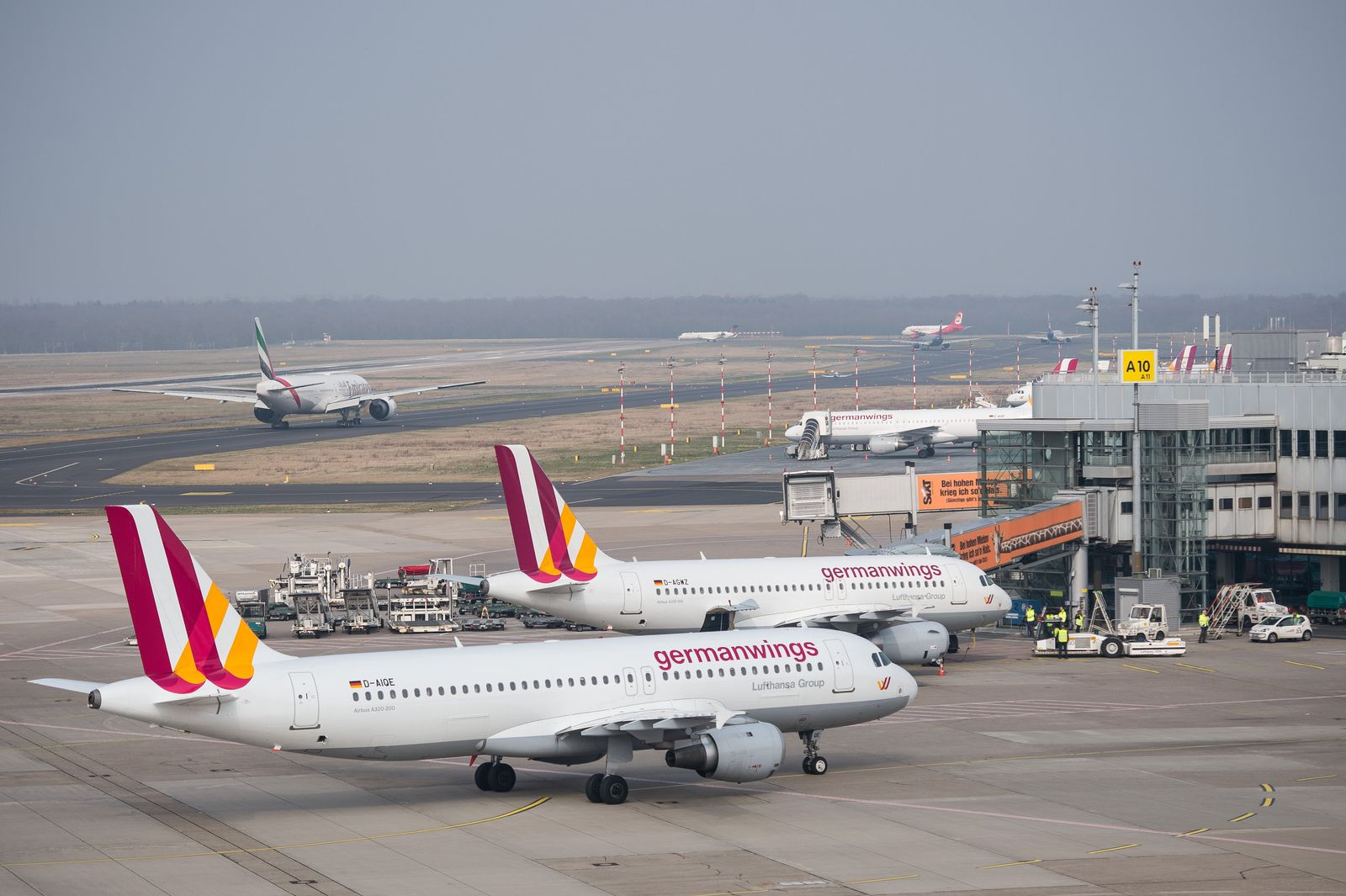 Germanwings Absturz/ Düsseldorf Flughafen