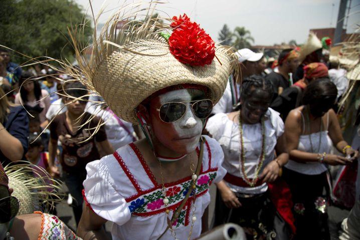 Feiernde in Mexiko