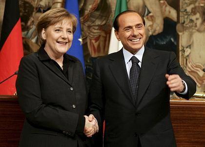 Merkel und Berlusconi in Rom: Engere Zusammenarbeit