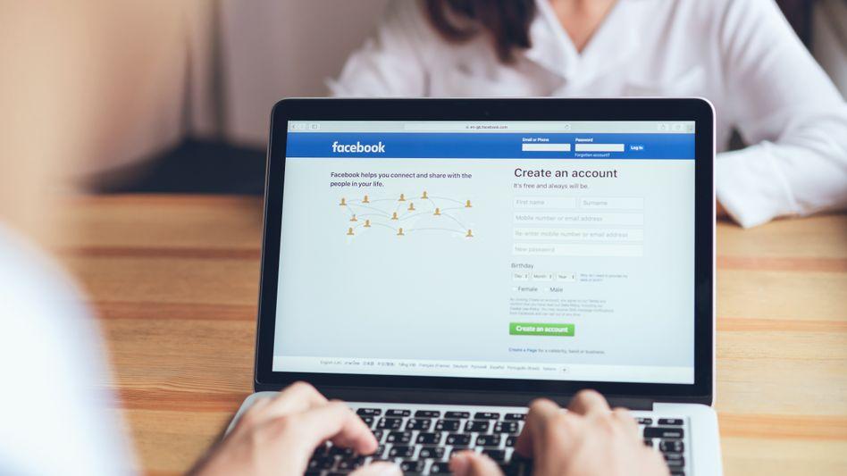 Facebooks Login-Seite