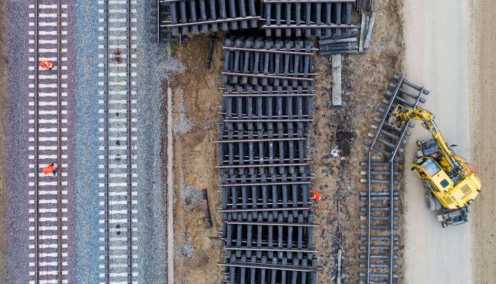 Bauarbeiten der Bahn in Niedersachsen