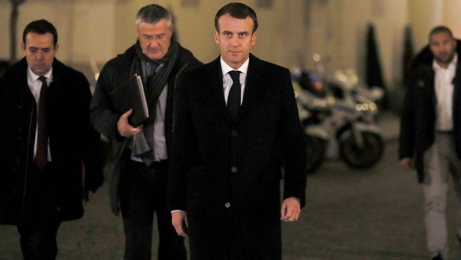 Emmanuel Macron (am Rande des Krisentreffens in der Nacht von Dienstag auf Mittwoch)