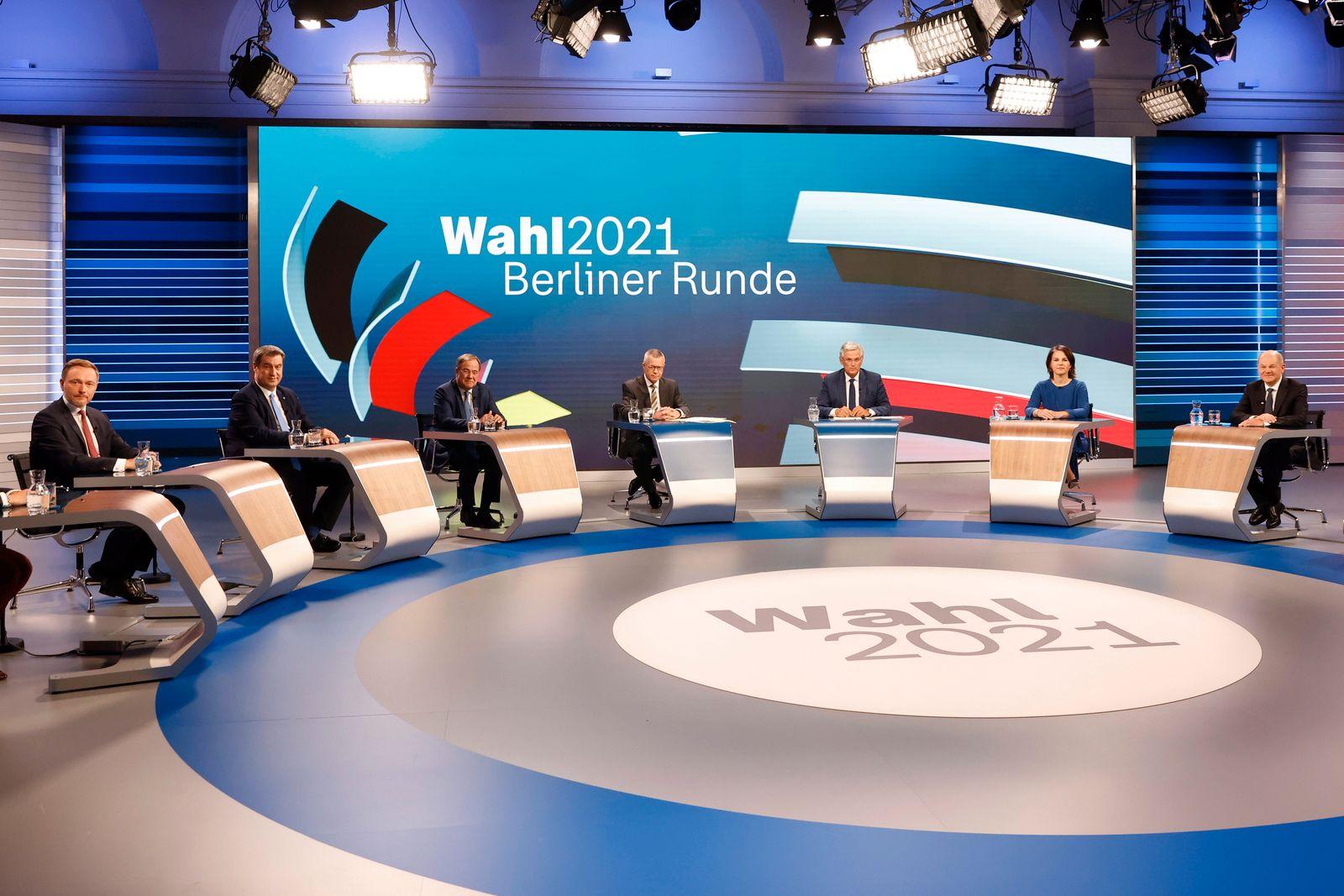 Berliner Runde TV debate after German general elections
