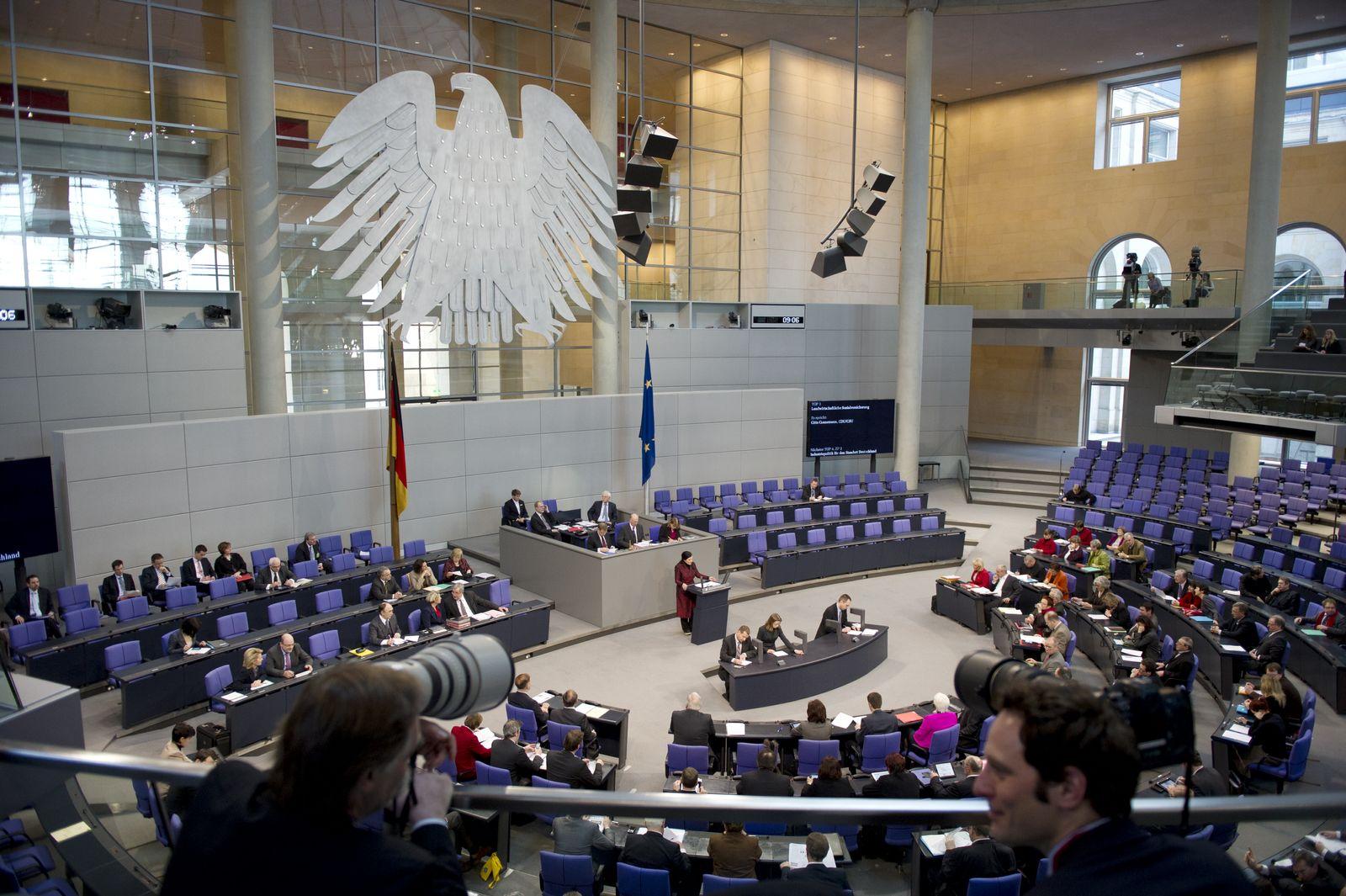 NICHT VERWENDEN Bundestag, Plenum