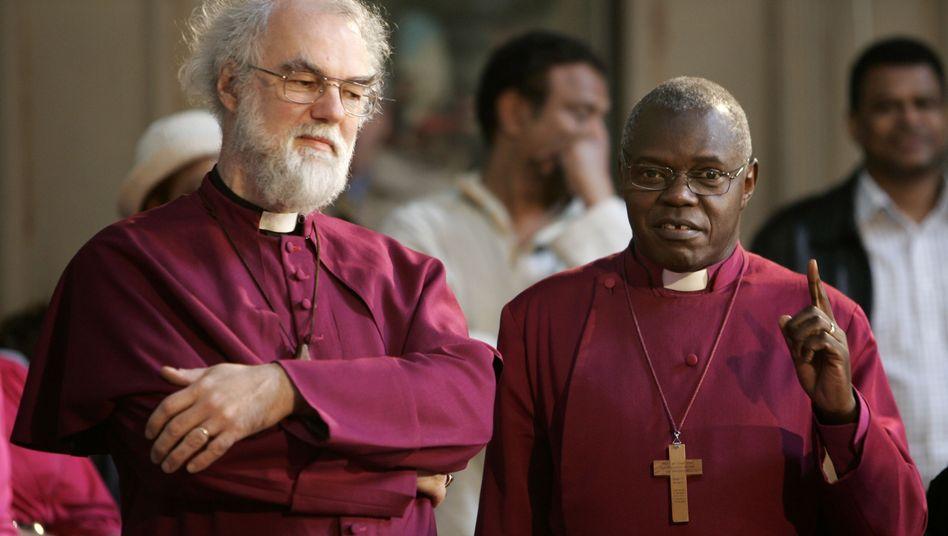Erzbischöfe Rowan Williams (links) und John Sentamu: Verdammung der Finanzkrise ist vorbei