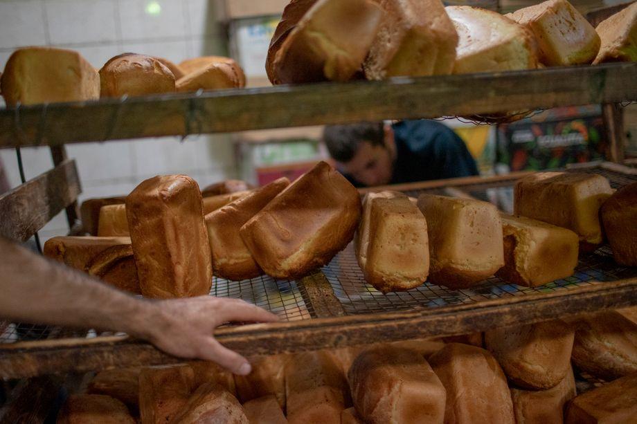Frisches Brot in der Bäckerei Aroghj Hats