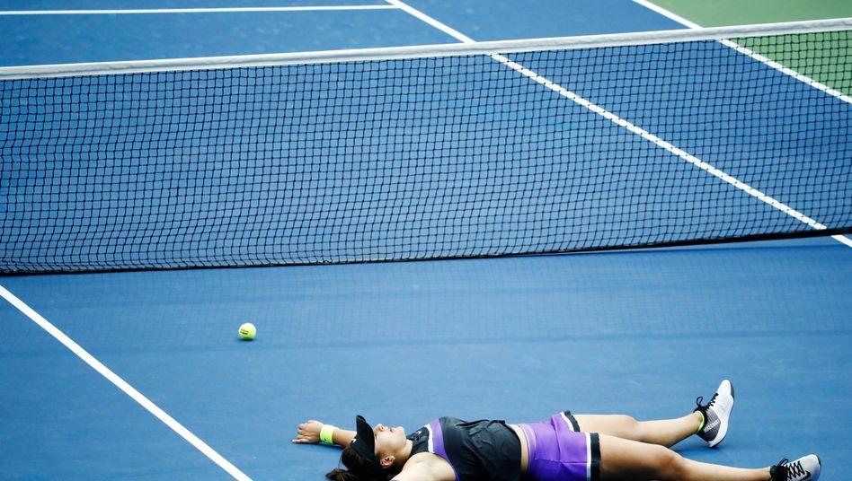 Bianca Andreescu feierte ihren ersten Titel bei einem Grand Slam