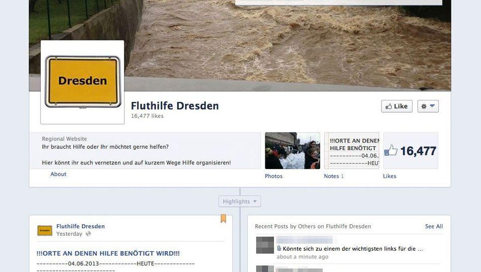 """Fluthilfe Dresden auf Facebook: """"4000 Sandsäcke, wohin?"""""""