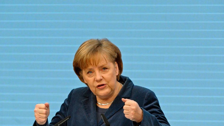 """Kanzlerin Merkel: """"Seien Sie kreativ, sonst werden wir kreativ sein."""""""