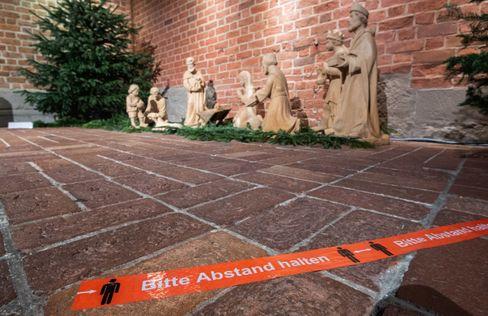 Weihnachtskrippe in einer Kirche in Hannover