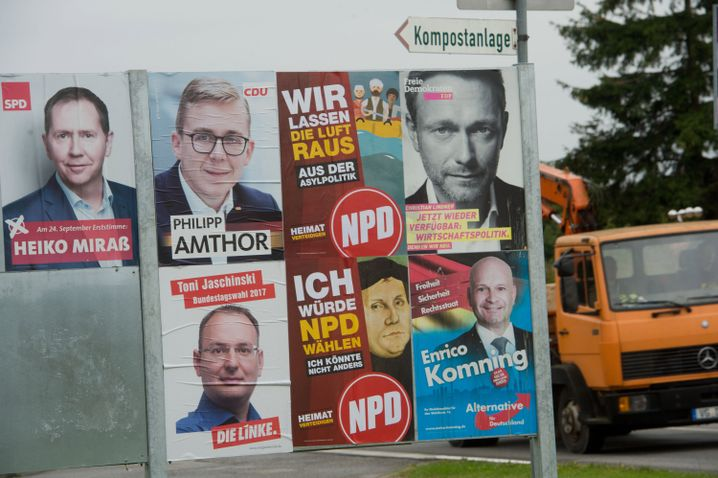 Wahlplakate in Wolgast