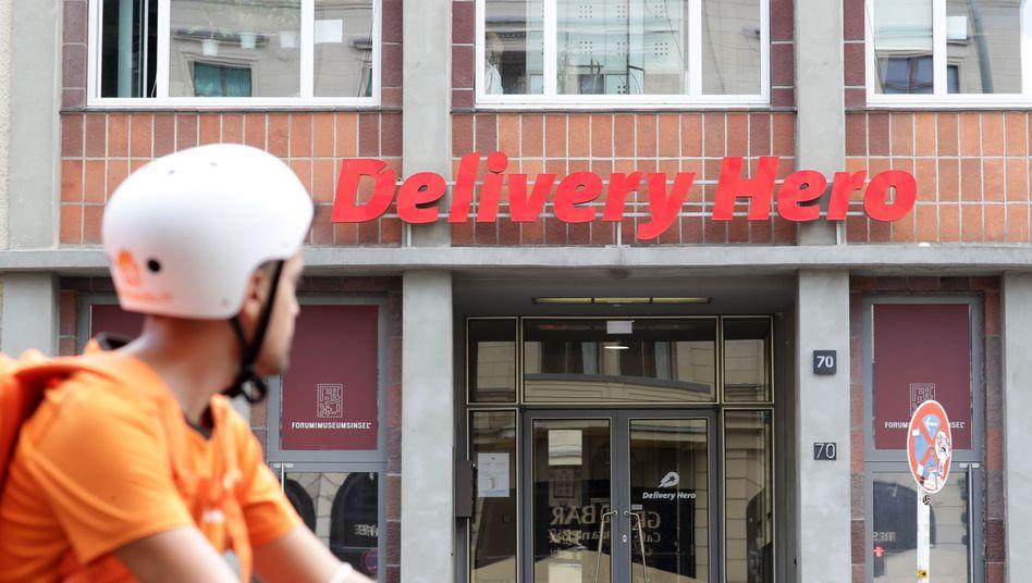 Delivery-Hero-Zentrale in Berlin: Tief in den roten Zahlen