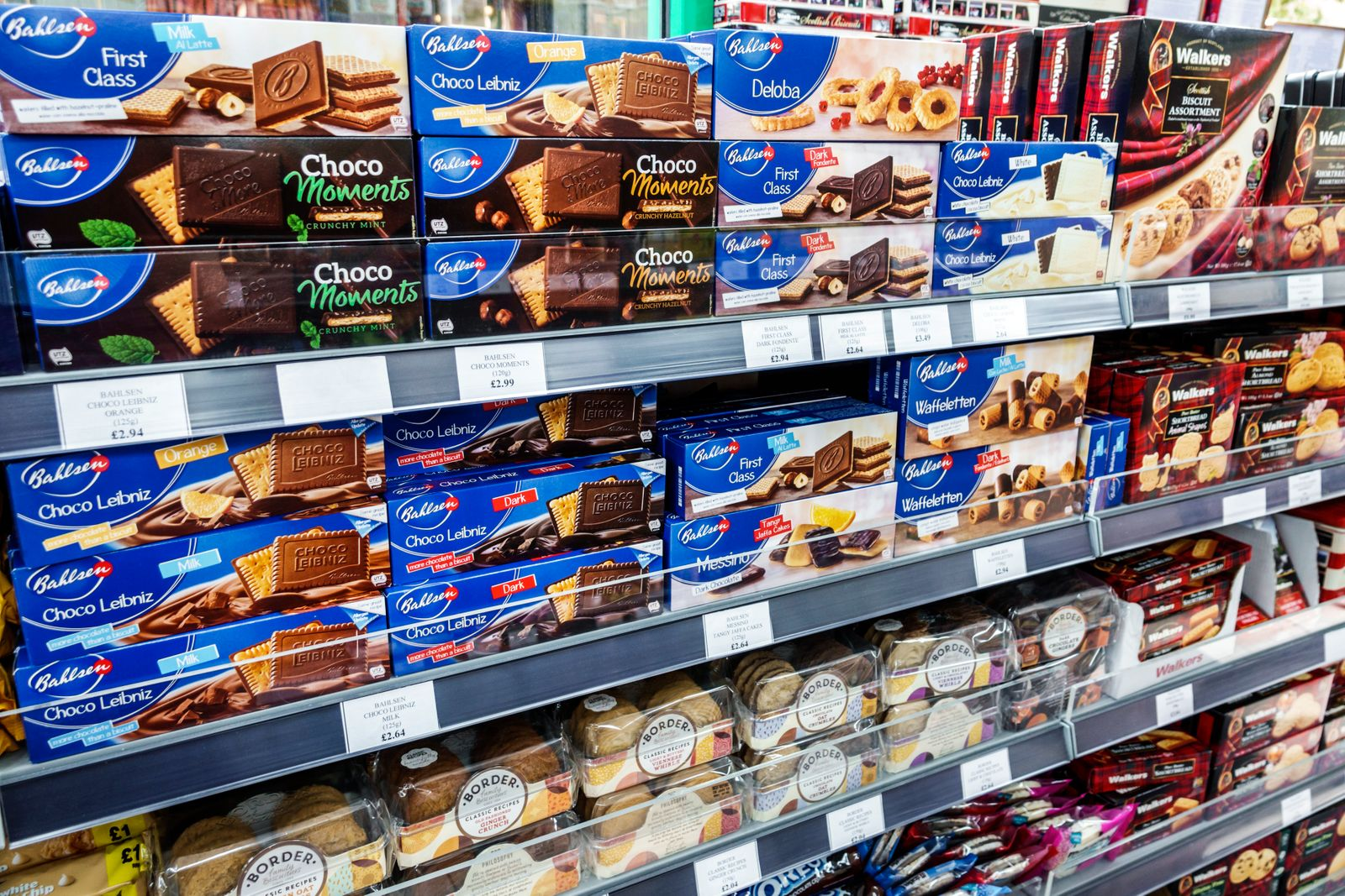London, European biscuits, chocolate covered, Bahlsen brand