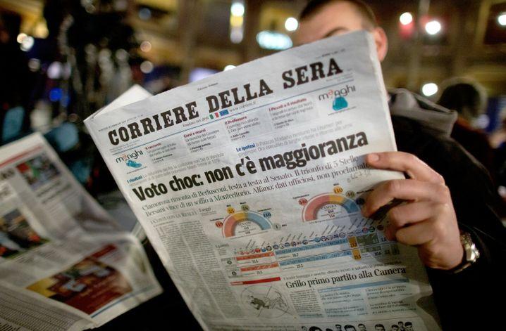 """Zeitung """"Corriere della Sera"""""""