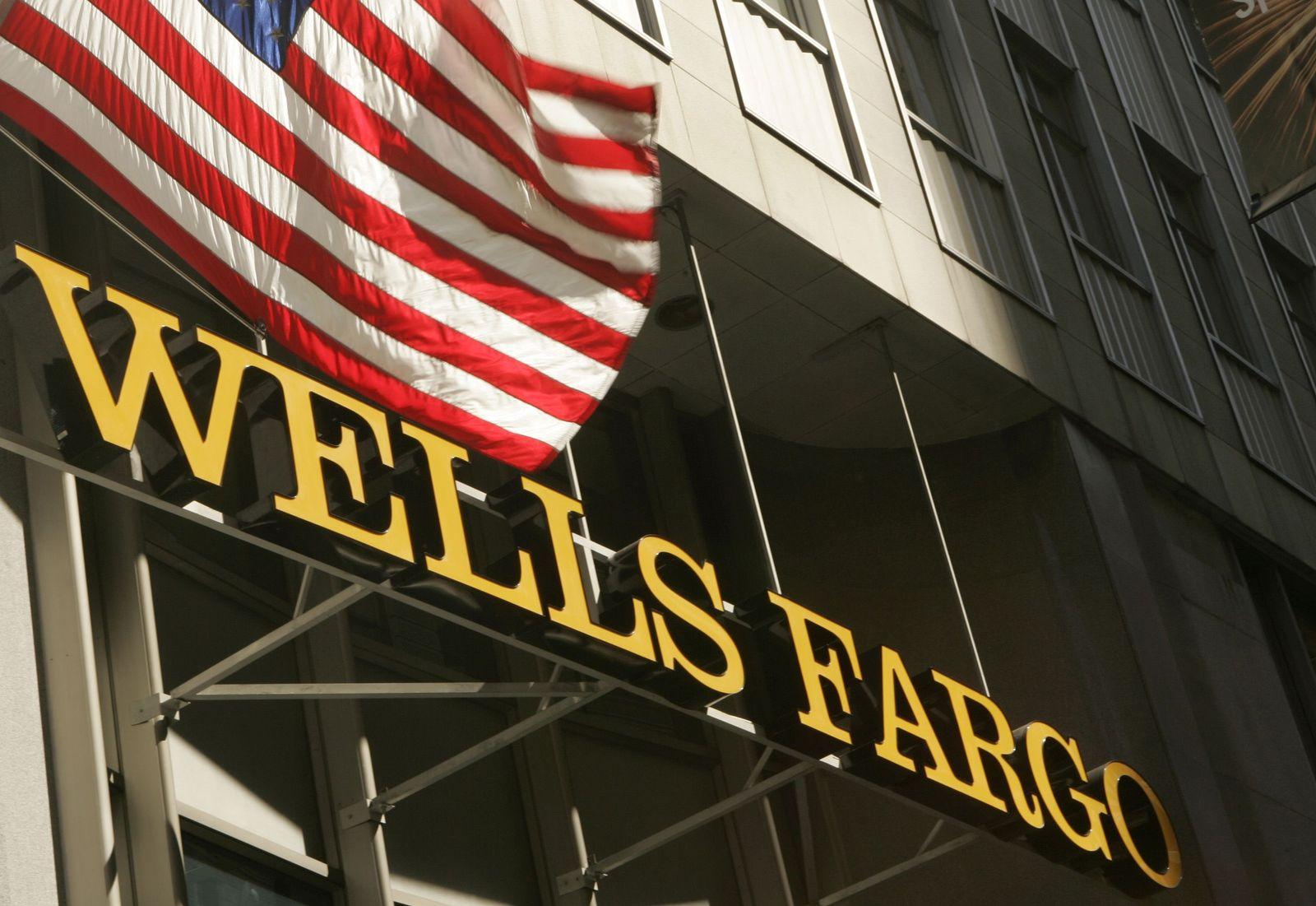 Wells Fargo / Bank / USA / US-Flagge